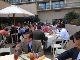 conference lunch break
