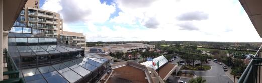 balcony overview at Marriott World Center