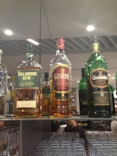 Lufthansas finest? Whiskey selection - LH Business Lounge.