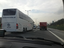 Istanbul traffic ... this time not too heavy