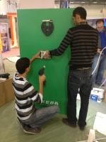 KEBA walls start to develop
