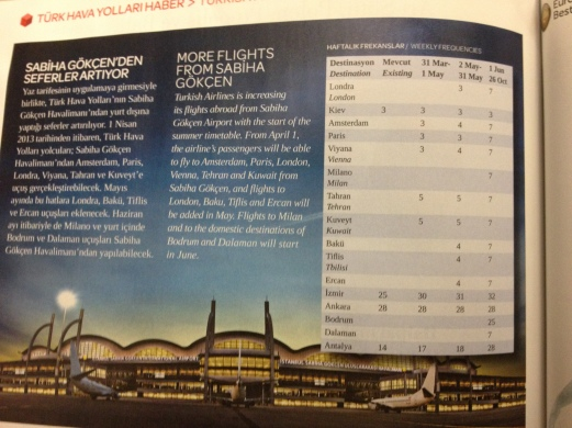 starting from May ... flights to SAW!
